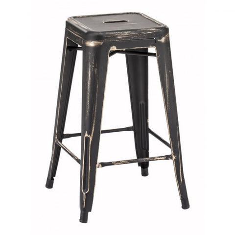 ZUO Modern Marius 106112 Counter Stool Anti Black Gold