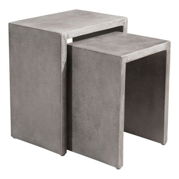 ZUO Modern Mom 703758 Nesting Side Tables Cement - Pankour