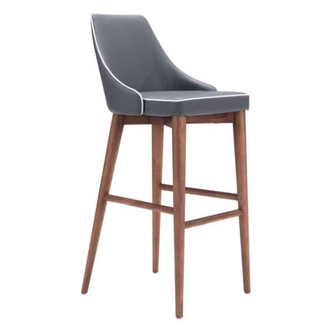 ZUO Modern Moor 100282 Bar Chair Dark Gray