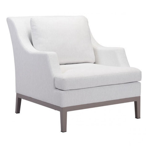 ZUO Modern Ojai 100788 Arm Chair Champagne White