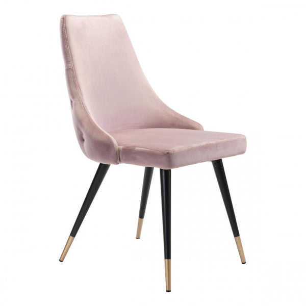 ZUO Modern Piccolo 101088 Dining Chair Pink Velvet