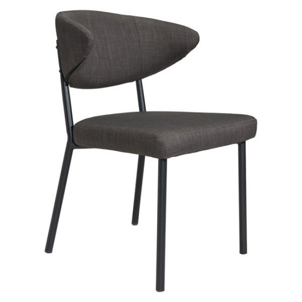 ZUO Modern Pontus 100764 Dining Chair Charcoal Gray
