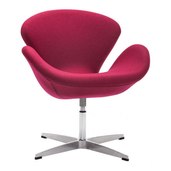 ZUO Modern Pori 500309 Occasional Arm Chair Carnelian Red