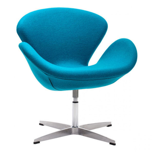 ZUO Modern Pori 500311 Occasional Arm Chair Island Blue