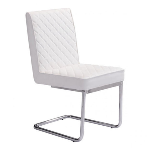 ZUO Modern Quilt 100188 Armless Dining Chair White