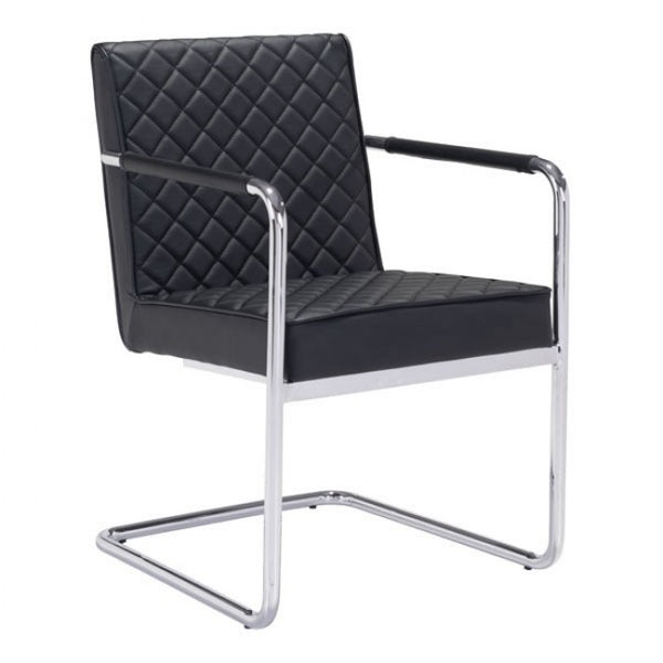 ZUO Modern Quilt 100189 Dining Chair Black