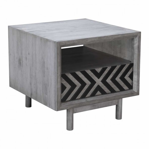 ZUO Modern Raven 100967 End Table Old Gray