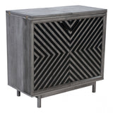 ZUO Modern Raven 100969 Bar Cabinet Old Gray