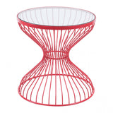 ZUO Modern Rose 101034 Side Table Red
