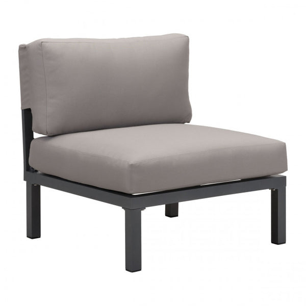 ZUO Modern Santorini 703900 Armless Living Chair Drk Gry & Gray