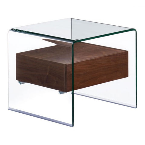 ZUO Modern Shaman 404068 Side Table Walnut