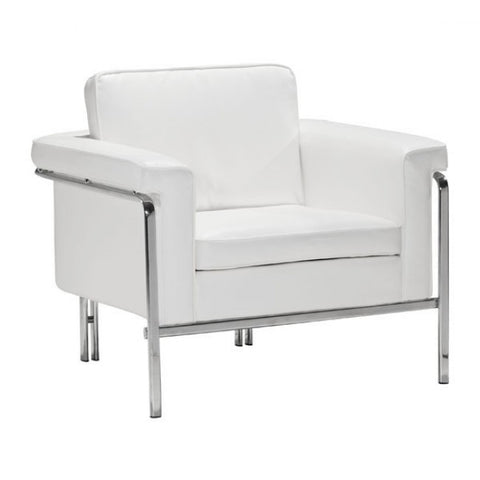 ZUO Modern Singular 900161 Arm Chair White