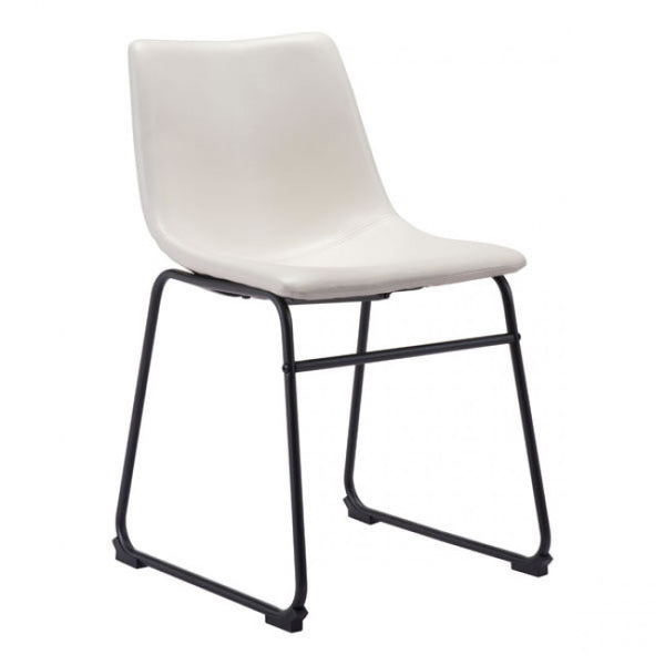 ZUO Modern Smart 100842 Dining Chair Distressed White