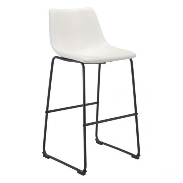 ZUO Modern Smart 100844 Bar Chair Distressed White