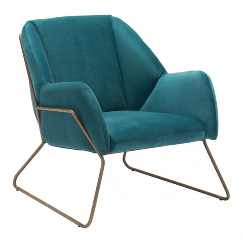 ZUO Modern Stanza 101155 Arm Chair Green Velvet