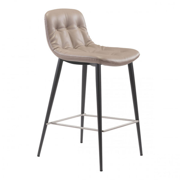 ZUO Modern Tangiers 101084 Counter Chair Taupe