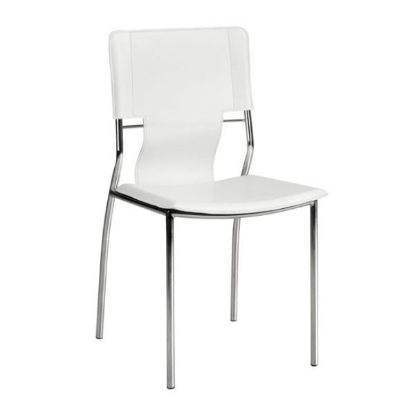 ZUO Modern Trafico 404132 Dining Chair White