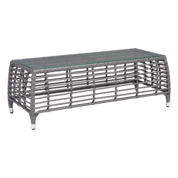 ZUO Modern Trek Beach 703828 Coffee Table Gray & Beige
