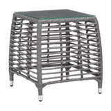 ZUO Modern Trek Beach 703829 Side Table Gray & Beige