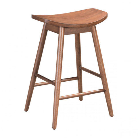 ZUO Modern Trinity 100952 Counter Stool Walnut