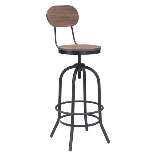 ZUO Modern Twin Peaks 98181 Bar Chair