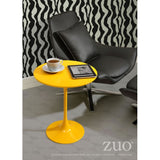 ZUO Modern Wilco 401144 Side Table Yellow