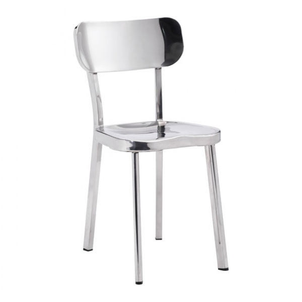 ZUO Modern Winter Chair 100301 Dining Chair Stainless Steel