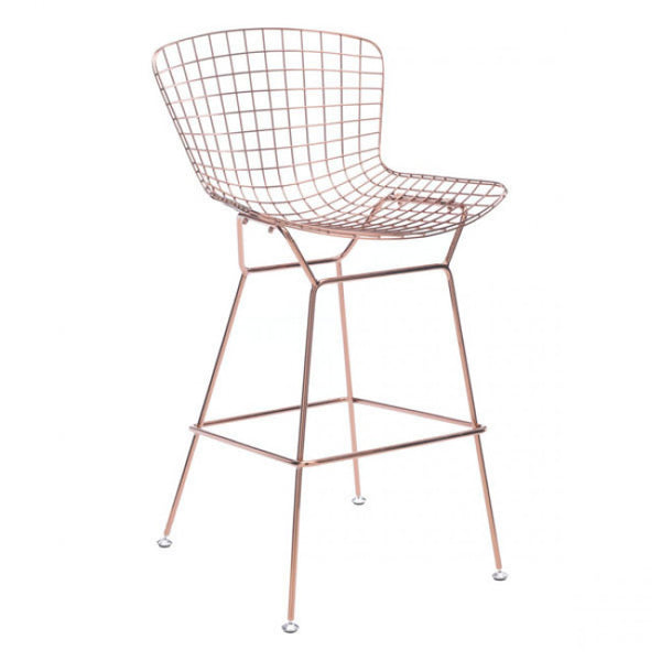 ZUO Modern Wire 100362 Bar Chair Rose Gold