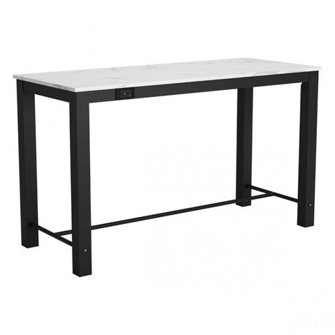 Zuo Modern Dawson 100974 Bar Table Faux Marble & Matt Black - Pankour