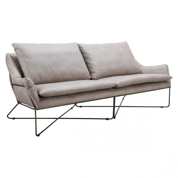 Zuo Modern Finn 101004 Sofa Distressed Gray - Pankour