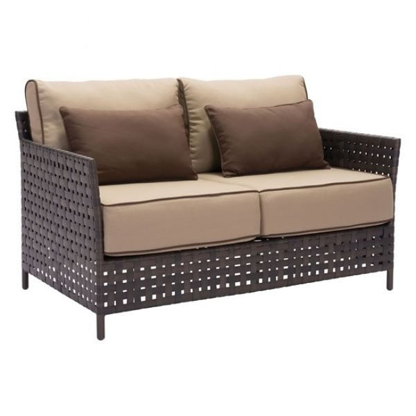 Zuo Modern Pinery 703792 Sofa Brown & Beige