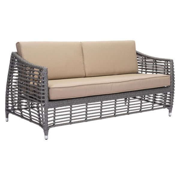 Zuo Modern Trek Beach 703827 Sofa Gray & Beige