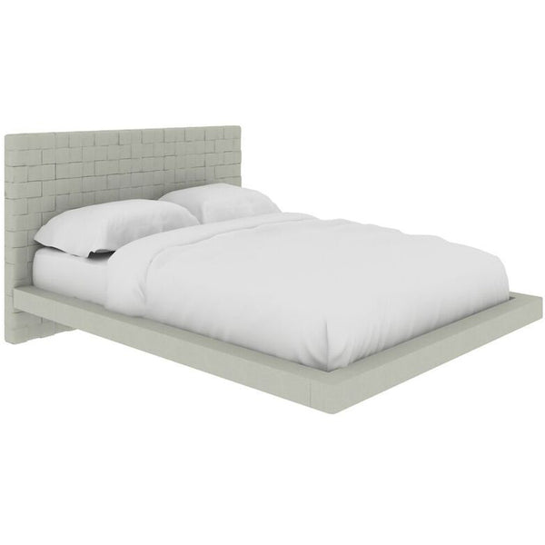 ZACK Collection Gray Eco-leather Full Bed by Casabianca Home - Pankour
