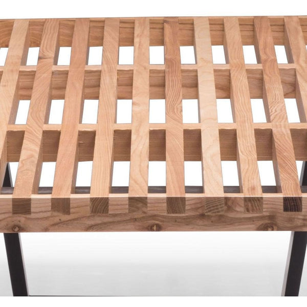 ZUO Modern Heywood Double Bench Natural 500113 Dining & Bedroom Benches - Pankour