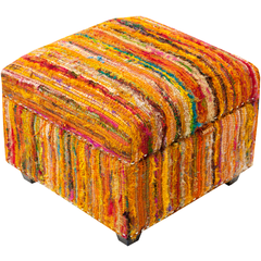 Surya Saturday Night 20 x 20 x 14 Ottoman SFL-3003 Ottoman - Pankour