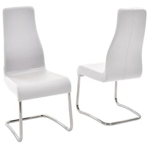 FLORENCE Collection Italian White Leather  Dining Chair by Talenti Casa - Pankour