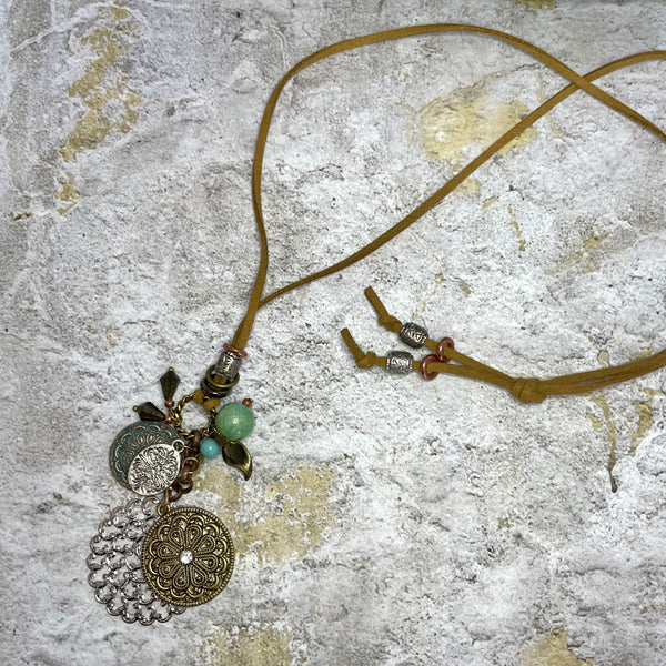 BOHO FAUX SUEDE NECKLACE