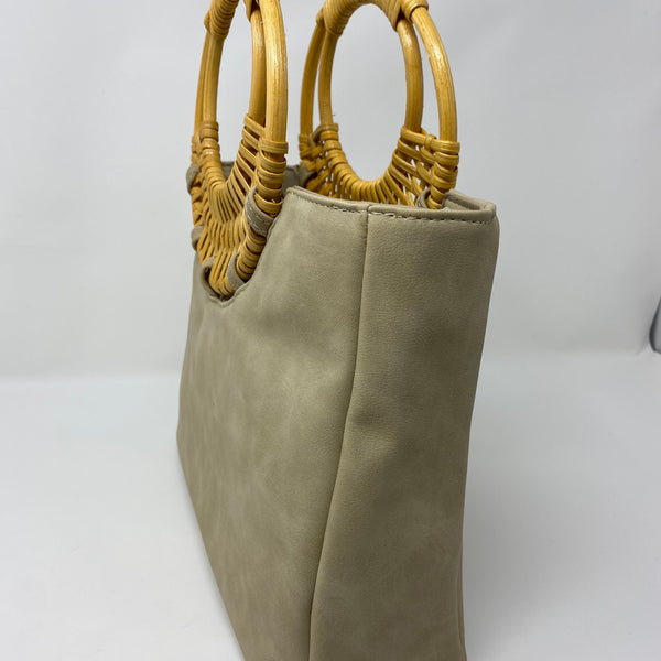 VEGAN FAUX LEATHER TOTE