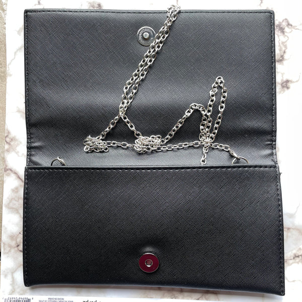 RHINESTONE EVIL EYE ENVELOPE CLUTCH