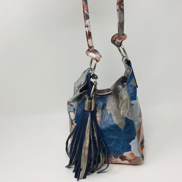 ELENA FLORAL MINI LEATHER TOTE