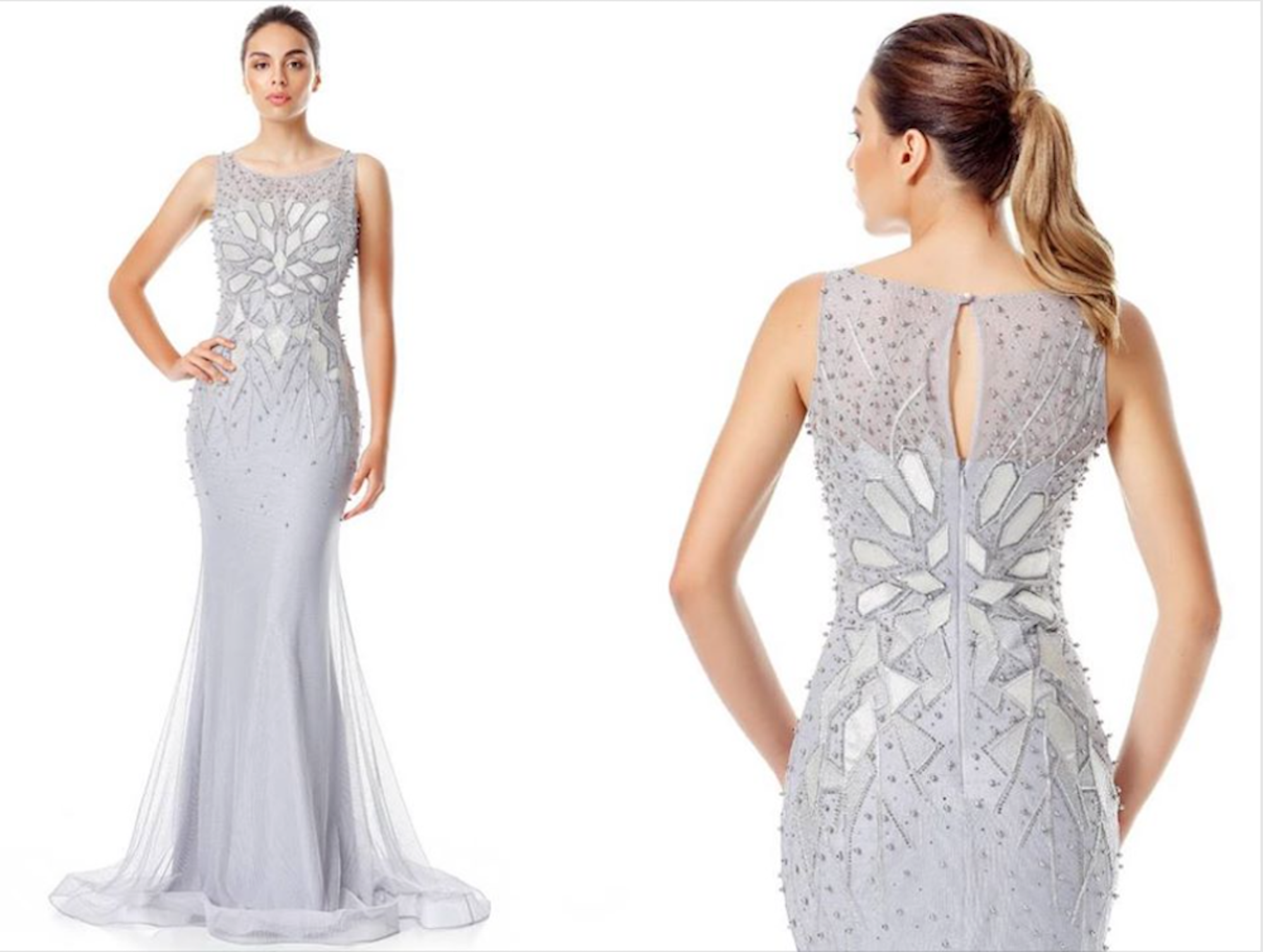 Faith Beaded Sheath Gown