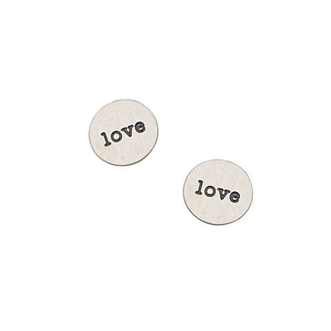 """LOVE"" INSCRIPTION PETITE SILVER STAINLESS STEEL LOCKET PLATE - Statelight"