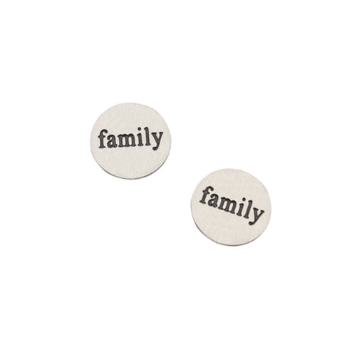 """FAMILY"" INSCRIPTION PETITE SILVER STAINLESS STEEL LOCKET PLATE - Statelight"