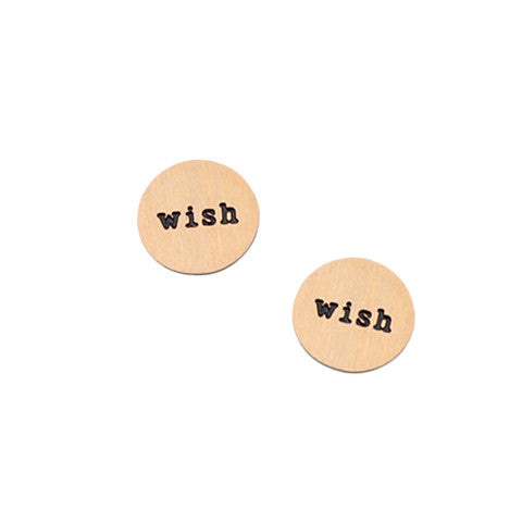 """WISH"" INSCRIPTION PETITE ROSE GOLD STAINLESS STEEL LOCKET PLATE - Statelight"