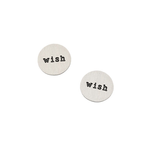 """WISH"" INSCRIPTION PETITE SILVER STAINLESS STEEL LOCKET PLATE - Statelight"