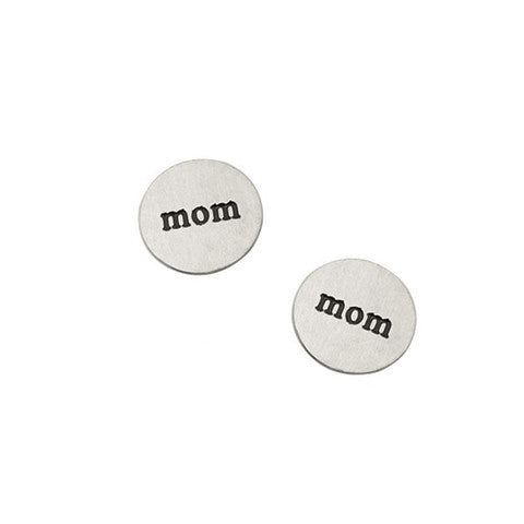 """MOM"" INSCRIPTION PETITE SILVER STAINLESS STEEL LOCKET PLATE - Statelight"