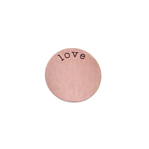 """LOVE"" INSCRIPTION LARGE ROSE GOLD STAINLESS STEEL LOCKET PLATE - Statelight"