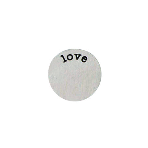 """LOVE"" INSCRIPTION LARGE SILVER STAINLESS STEEL LOCKET PLATE - Statelight"