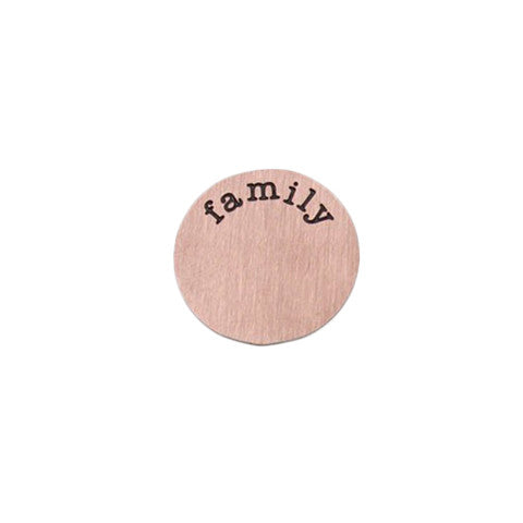 """FAMILY"" INSCRIPTION LARGE ROSE GOLD STAINLESS STEEL LOCKET PLATE - Statelight"