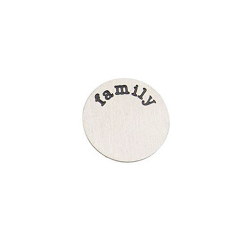 """FAMILY"" INSCRIPTION LARGE SILVER STAINLESS STEEL LOCKET PLATE - Statelight"